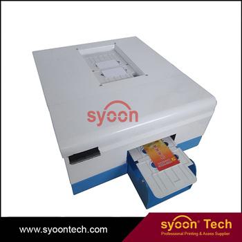 Automatic Desktop Digital Plastic Pvc Ic Id Card Inkjet Printer For