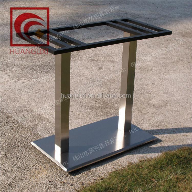 Rectangular Stainless Steel Table Base For Restaurant