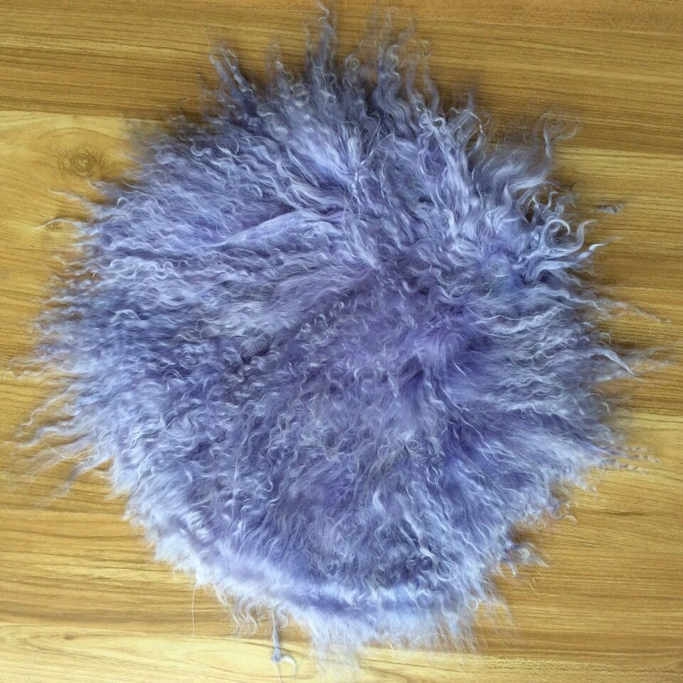 long wool soft sheepskin cushion