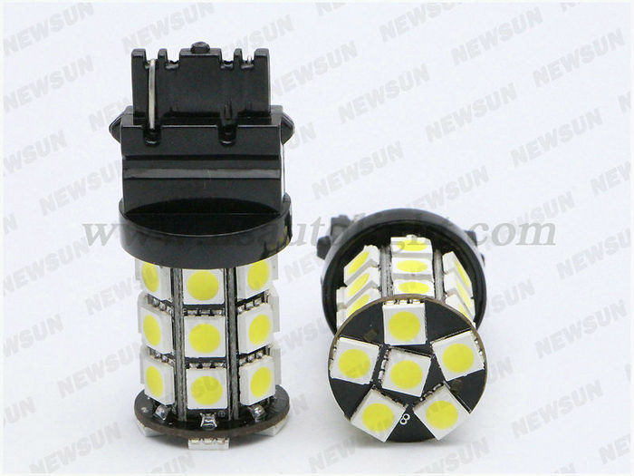 2014 Factory Price Xenon Crystal White 6000k 3157 5050 27 Smd Led ...