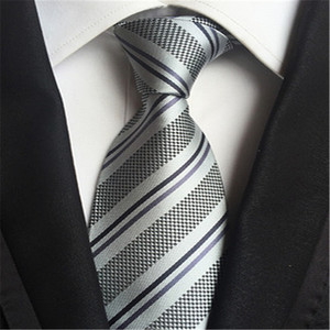 100% Silk Mens Ties New Design Neck Ties Plaid&Striped Ties for Men Formal Business Wedding Party Gravatas