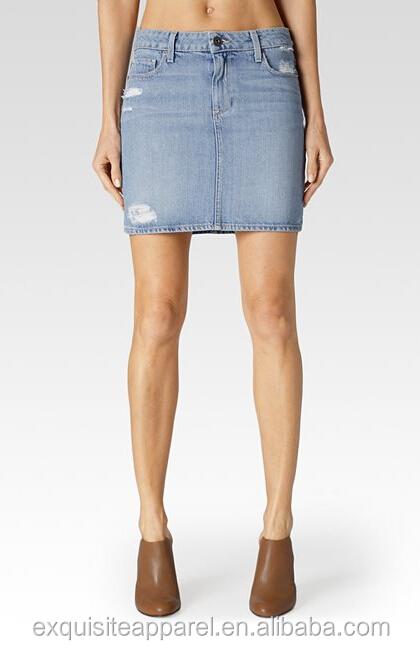 pretty nice d211f 69e45 Custom 100% Jean Gonna Di Cotone/signore In Jeans Strappati Mini  Gonne/corte Gonne Strette - Buy Gonna Jeans,Gonna Corta Gonne Strette,Mini  Strappato ...