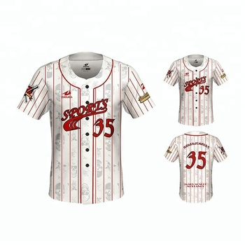 5ae8c8d0bef China Wholesale Baseball jersey fashionable full heat printing team logo  number and name for team or
