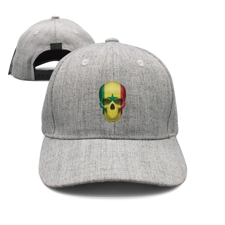 Haydner Moosers Senegalese Skull Flag Unisex Baseball Hats Adjustable Trucker Cap
