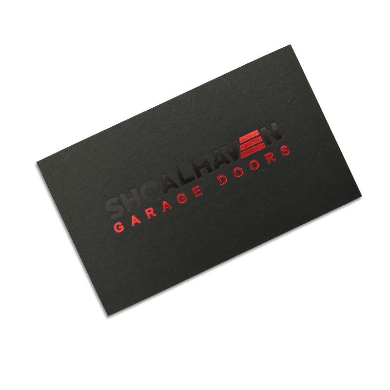 Benutzerdefinierte Gold Silber Folienprägung Schwarze Visitenkarte