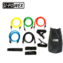exercise rubber resistance bands set with 110 lbs workout tubes for indoor and outdoor sports, fitness training