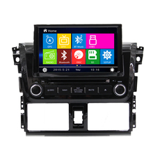 Wince 6,0 autoradio GPS-navigation für toyota Vios 2 din auto dvd-player <span class=keywords><strong>wifi</strong></span> 3g bt