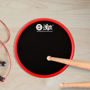 HUN Brand Round Single Side Sticky Silicone 6 inch Drum Practice Pad
