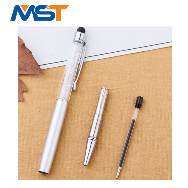 Factory Supply Crystal diamond Crown pearl diamond touch screen pen for marketing
