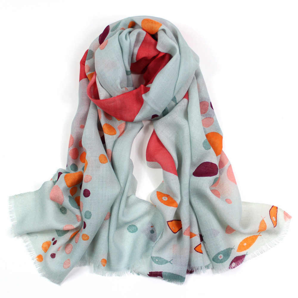 b153554cd Get Quotations · Winter scarfs 2015,fish print,droplet print,brand scarf,wool  scarf,
