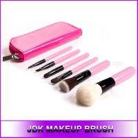 6pcs Make Up Brush Set with Pink Cosmetic Bag