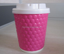 Disposable embossed glass, double wall paper cup, paper cup fan