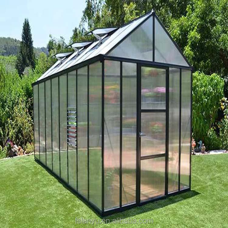Commercial used aluminium frame polycarbonate greenhouse