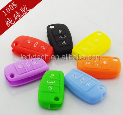 A13/A4L/A5/A6L/A8L/Q357/S567 Purple color Silicone car key cover 3 button silicone case for remote control