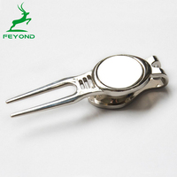 Newest Divot Tools Magnetic Golf Ball Marker Pitch Fork Repairer New Tools on sale