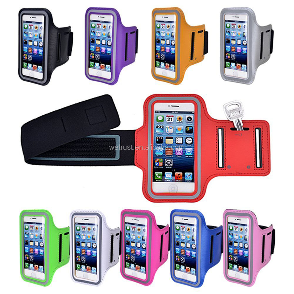 5.5 inch Phone Cases for iPhone 7 Armband Arm Band Belt Cover Running Cell Phone Armband Holder