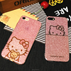 Fashion IMD Glitter Painting hello kitty cat Phone Cover For IPhone 6/6S Plus