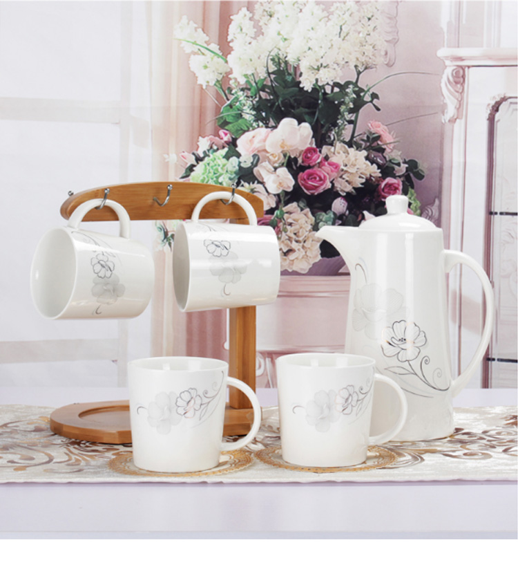 Bamboo Tableware Mugs Stand Coffee Cups Tree Holder Tea Changer Organizer