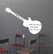 Home Decoration Guitar Shaped PVC Removable Whiteboard Dry Erase