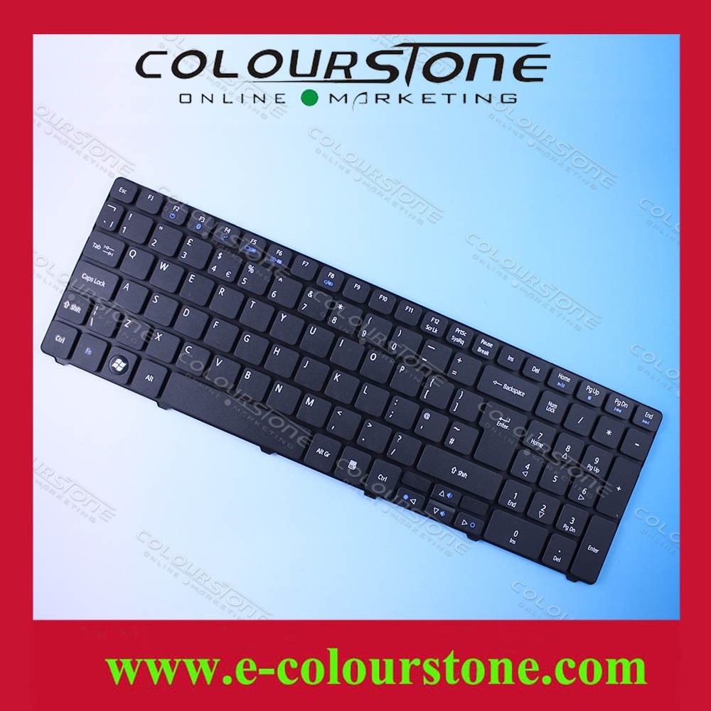 New arrival UK Keyboard for Acer 5810T 5536 5742 5740 7551 Black 90.4CD07.S0W