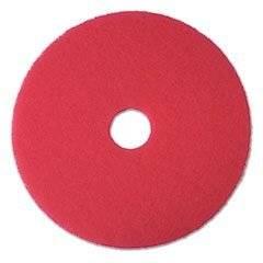 "* Buffer Floor Pad 5100, 17"", Red, 5 Pads/Carton"