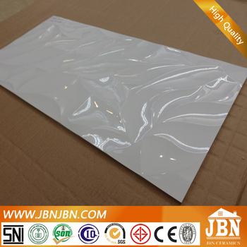 300x600mm wave design glossy cheap white wall ceramic tiles price