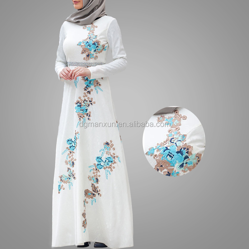 Latest Burqa Designs Muslim Clothing Newest Embroidery Moroccan Kaftan Dress Fashionable Arab Dubai Abaya Online