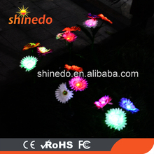 Led garden decoration peony solar flower light