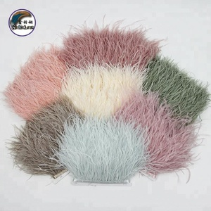 4-6 Inch(10-15 cm) Wholesale Multi-Colored Soft And Fluffy Ostrich Feather Trim