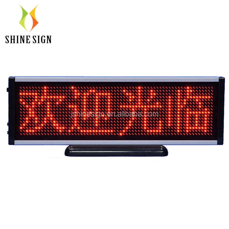 counter servise small usb mini led display running text sign