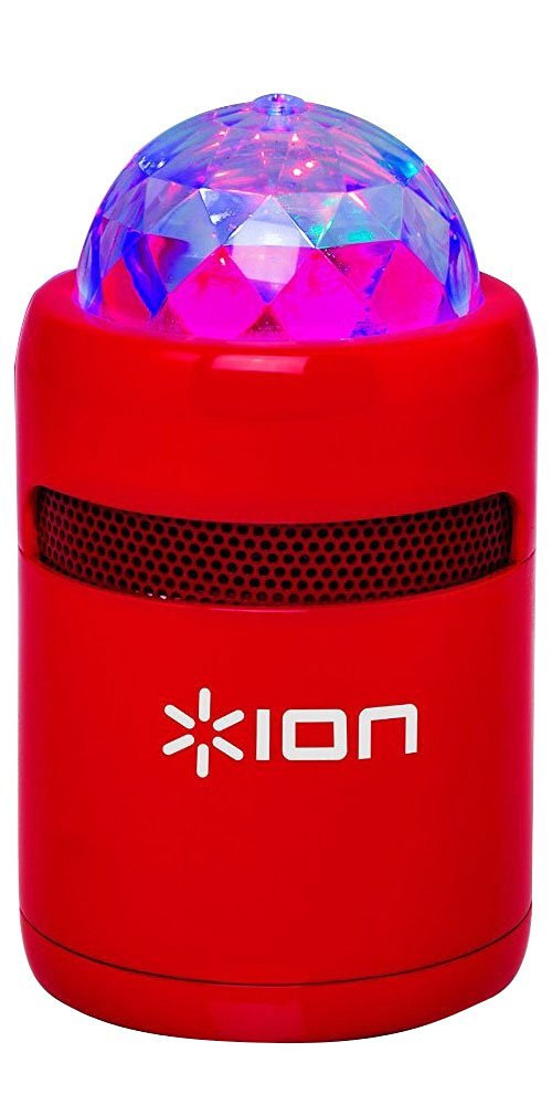 ION Party Starter Portable Bluetooth Speaker With Built-In Light Show - Red