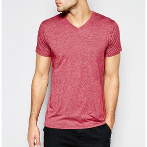 Classical design cation jersey mens v-neck plain custom logo red tee shirt