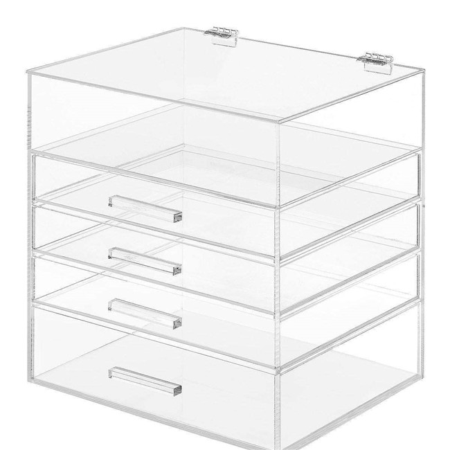 Clear Plexiglass Jewelry Storage Organizer Customize Acrylic Ring Box