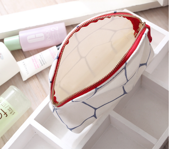 fashional canvas Promotional cosmetic bag With Full Printed