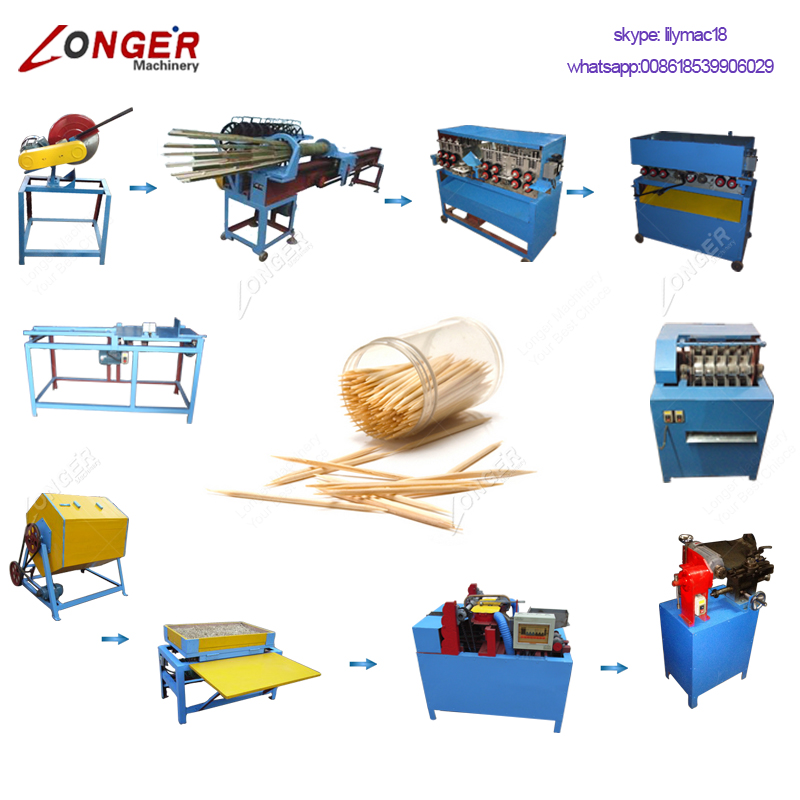 Factory Price Raw Material Manufacturing Tooth Pick Make Processing Equipment Production Line Toothpick Making Machine For Sale