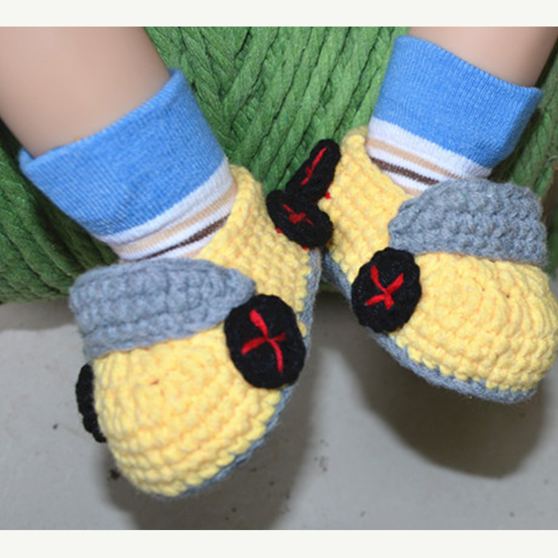 Infant Boys Yellow Cool Car Free Knitting Pattern Fitting Baby Shoes ...