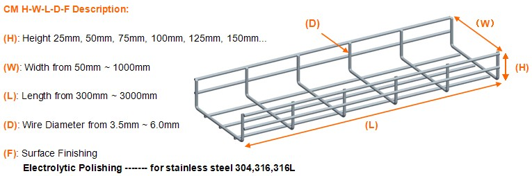 Good price ss316 wire mesh cable tray, View ss316 wire mesh cable ...