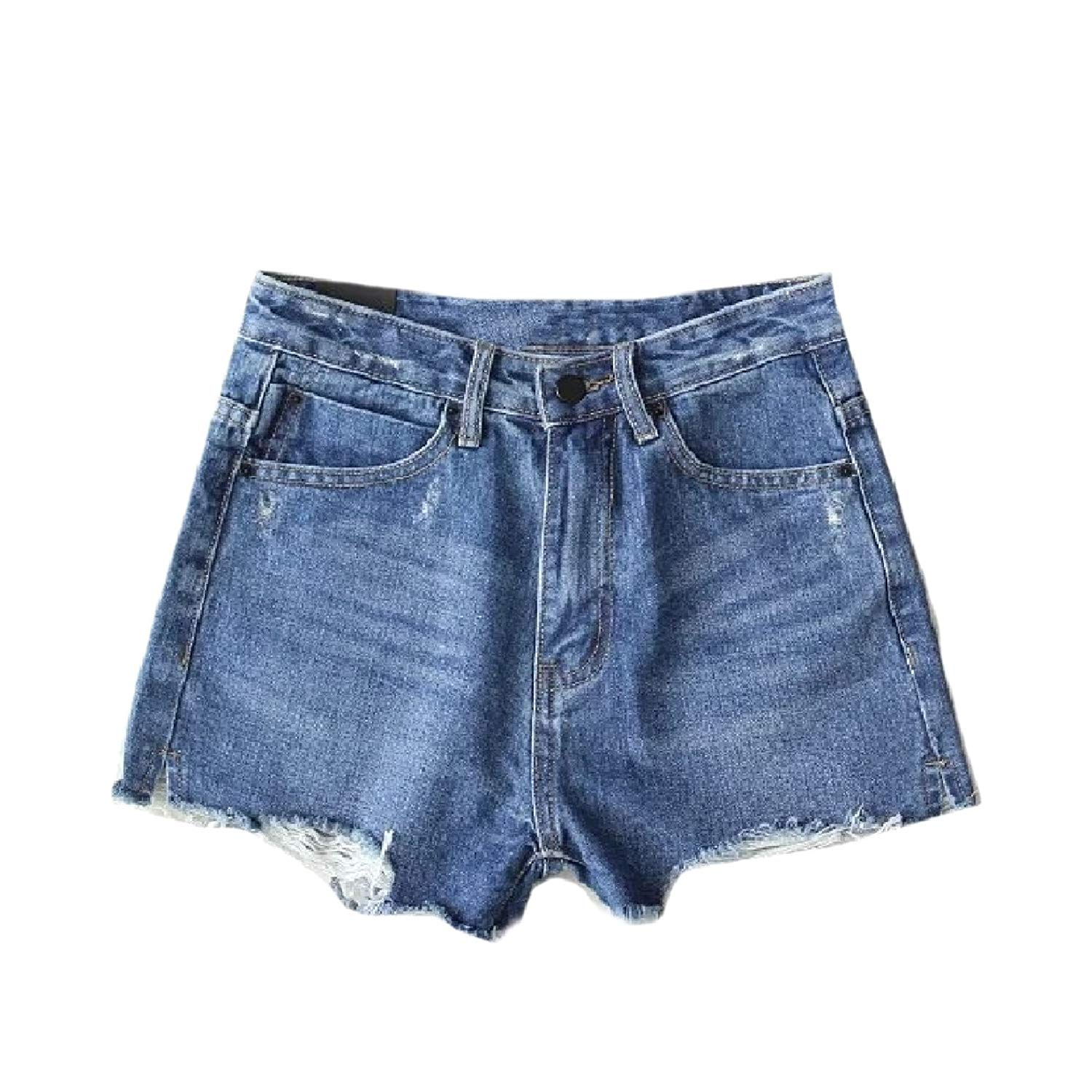 23c10cd65b Get Quotations · Howme Womens Summer Denim Washed Stretch Destroyed Jeans  Denim Shorts