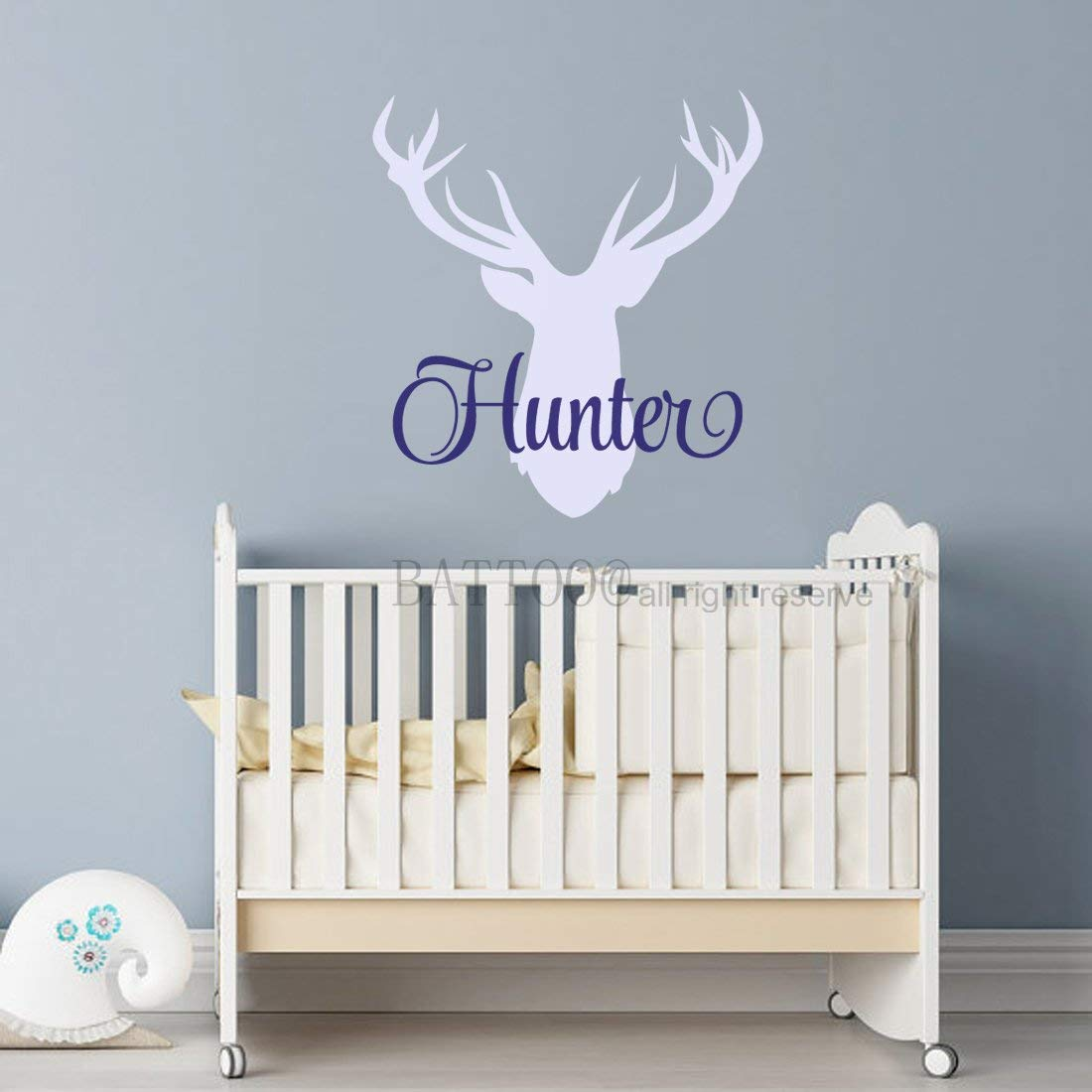 Battoo Antler Wall Decal Personalized