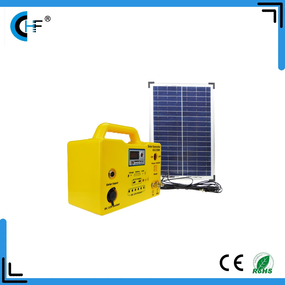 20w 30w Dc 12v Solar Lighting System For Indoor Generator Outdoor