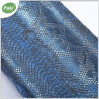 1.6mm embossed PVC synthetic snake leather for making shoulder bags