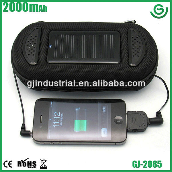 2013 portable mini rohs solar cell phone charger