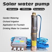 1m3/h deep well submersible solar pump dc solar irrigation pumps solar water pumps for sale