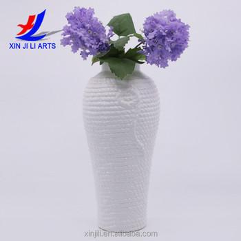 Long Neck Vase Stoneware Tall Floor Vase For Wedding Table
