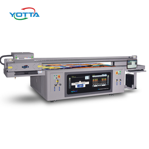 Industrial head digital uv led inkjet flatbed printer printing machine for metal wood 3d tiles