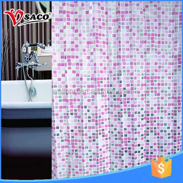 Popular style PVC shower hotel window curtain with low price