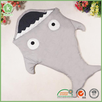 New Design Product Cotton Baby Shark Blanket