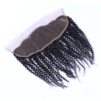 Cuticle aligned curly Brazilian kinky curly 13*4 lace frontal