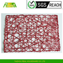 factory price Environmental Dining table decoration paper rope straw metall rectangular placemat kitchen table mat table runner