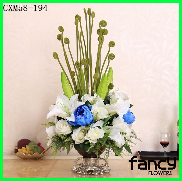 New arrived artificial floral arrangements decorative calla lily mixed rose flowers arrangements for sale